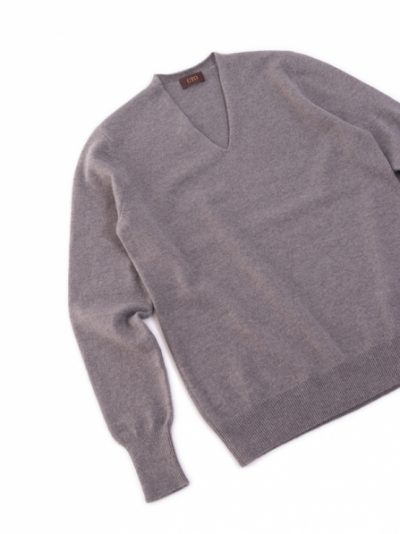Women Cashmere V-neck Waist Shaping Pullover