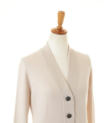 Women Cashmere V-neck Waist Shaping Cardigan